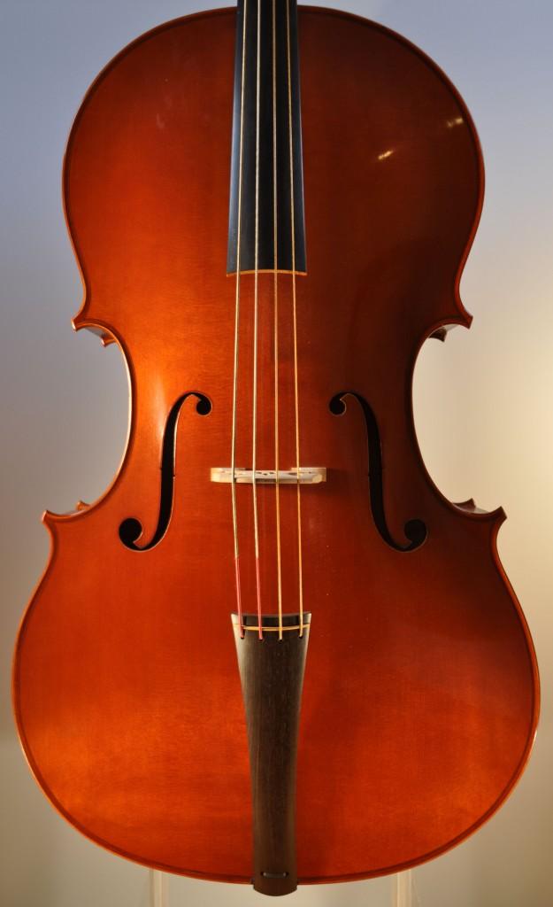 """Barockcello, Modell """"Gore Booth"""" A. Stradivari (Michael Hatting, 2009) Decke"""